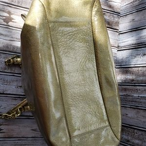 Coach Bags - Metallic Gold Coach Large Handbag  Authenic